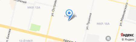 Стрекоза на карте Сургута
