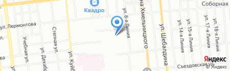 Средняя общеобразовательная школа №38 с углубленным изучением отдельных предметов на карте Омска