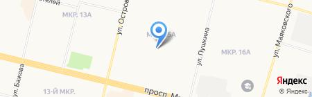 Мастерская по ремонту часов и изготовлению ключей на ул. Пушкина на карте Сургута