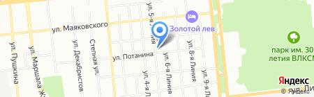Дружба на карте Омска