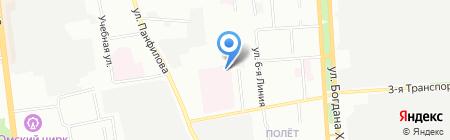 Скорая медицинская помощь на карте Омска
