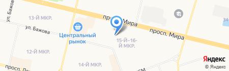 Студенческий на карте Сургута