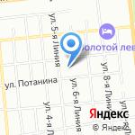 Мистраль на карте Омска