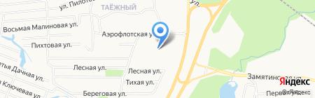 Таёжный на карте Сургута