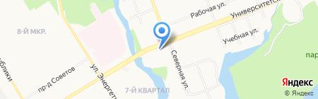 АЗС Петролстарт на карте Сургута