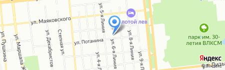ВТД на карте Омска