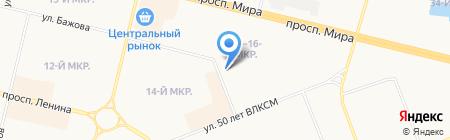 Лицей №3 на карте Сургута