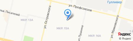 Средняя общеобразовательная школа №5 на карте Сургута