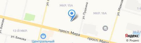 Библиотека №15 на карте Сургута