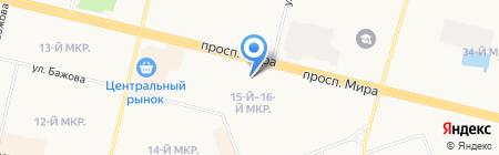 Мясной двор на карте Сургута