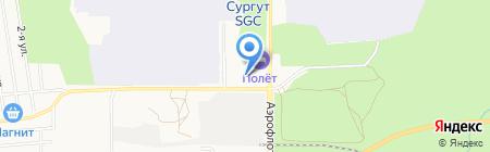 ЮТэйр-Вертолетные услуги на карте Сургута