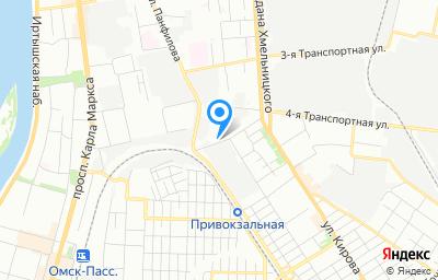Местоположение на карте пункта техосмотра по адресу г Омск, ул 1-я Военная, д 5