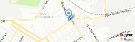 Фруктово-овощная база на карте Омска