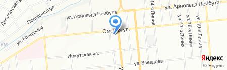 Банкомат АКБ МОСОБЛБАНК на карте Омска