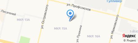 Югория на карте Сургута