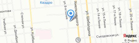Центральный-6 на карте Омска