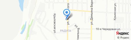Белая лилия на карте Омска