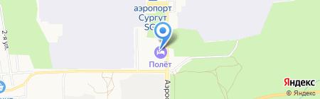 Полет на карте Сургута