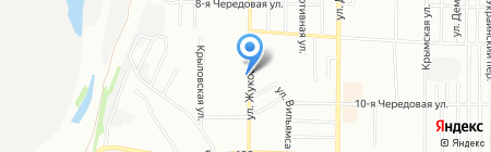 Киоск по продаже фруктов и овощей на карте Омска