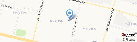 Юлия на карте Сургута