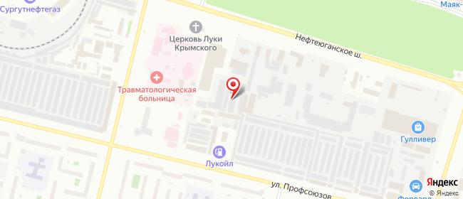 Карта расположения пункта доставки DPD Pickup в городе Сургут