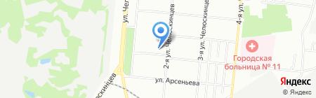Меридиан на карте Омска