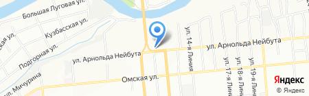 Экс-Сиб на карте Омска