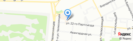 Модамур на карте Омска