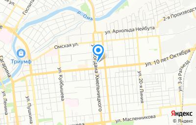 Местоположение на карте пункта техосмотра по адресу г Омск, ул Богдана Хмельницкого, д 91