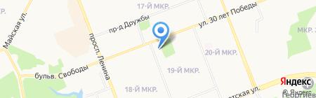 Детская хореографическая школа №1 на карте Сургута