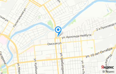 Местоположение на карте пункта техосмотра по адресу г Омск, ул Арнольда Нейбута, д 91А
