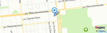 Веломотодрайв на карте Омска