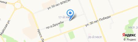 Сеть продуктовых магазинов на карте Сургута