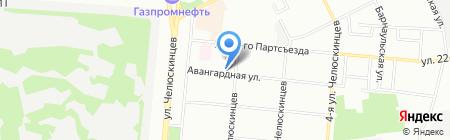 Сибириада на карте Омска