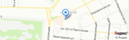 Парикмахерская на ул. Багратиона на карте Омска