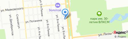 Детский сад №40 на карте Омска