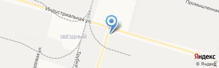 Сибирский крепёж на карте Сургута