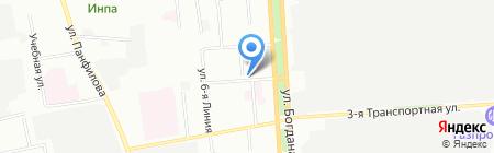 Призаводской на карте Омска