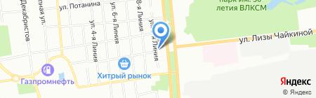 Хитрая Маша на карте Омска