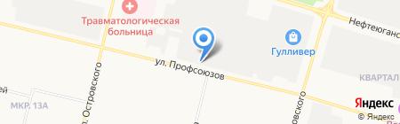 Магазин аккумуляторов на карте Сургута