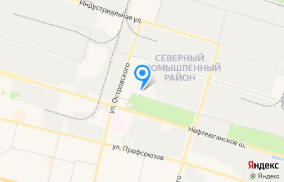 Местоположение на карте пункта техосмотра по адресу Ханты-Мансийский Автономный округ - Югра АО, г Сургут, ул Технологическая, д 1 стр 6