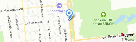 Форус-Пласт на карте Омска