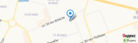 Факел на карте Сургута