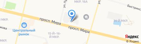 Юнона на карте Сургута