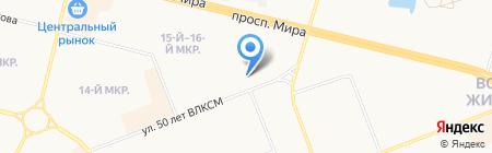 Нуга Бест на карте Сургута
