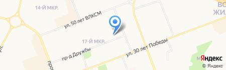 Средняя общеобразовательная школа №7 на карте Сургута