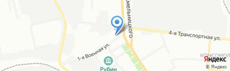Антаблемент на карте Омска