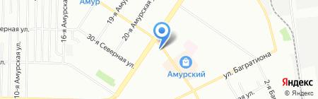 Деньга на карте Омска