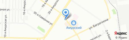 Атлантик плюс-ломбард на карте Омска