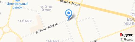 Криста на карте Сургута